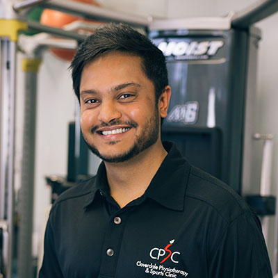 Mihir Patel   Cloverdale Physiotherapy and Sports Injury Clinic
